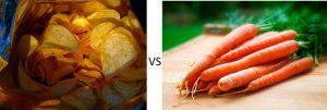Patatas fritas vs zanahoria